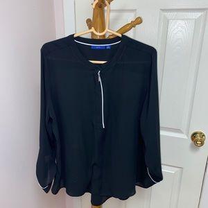 apt 9 black blouse